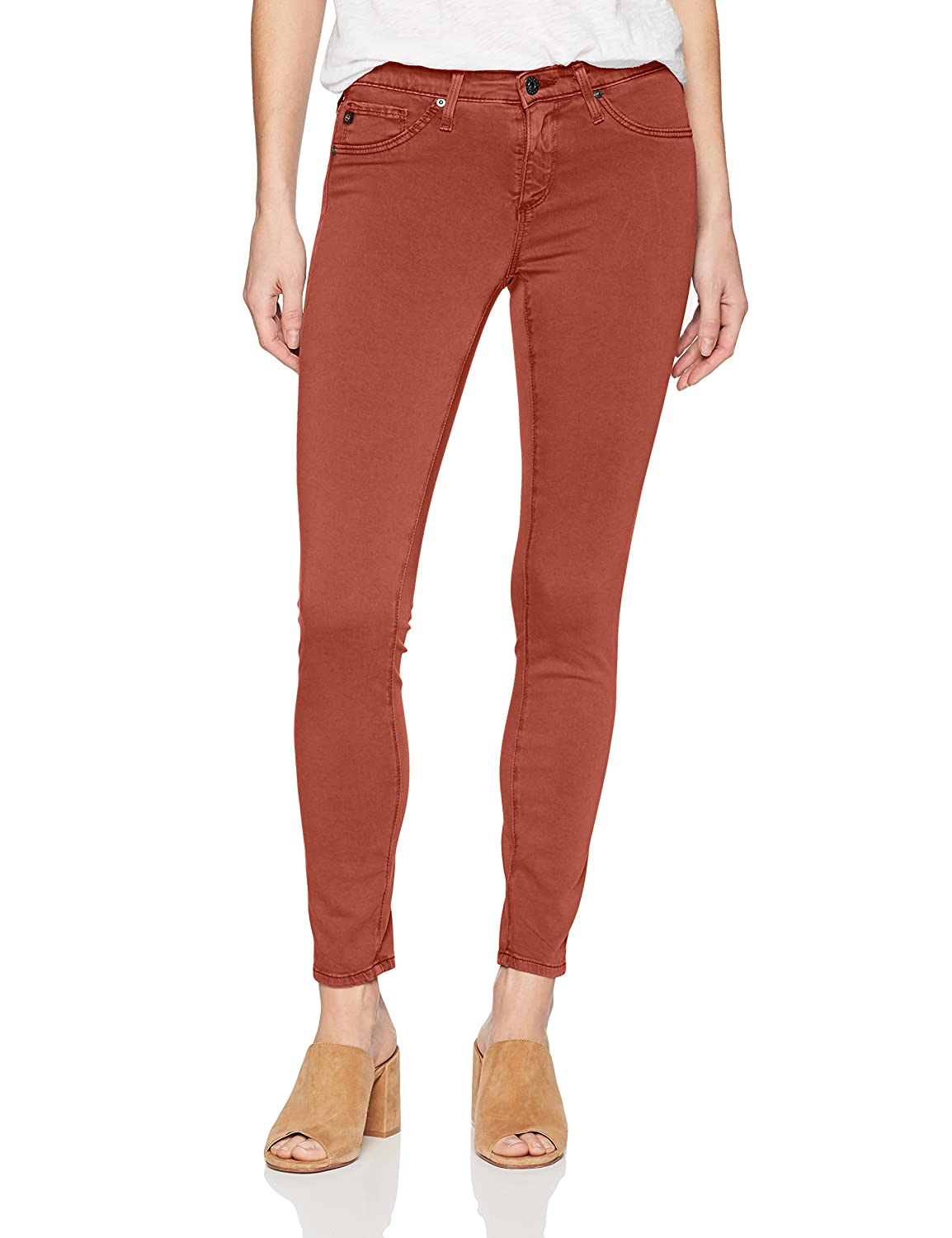 Immersed Raw Sienna AG Adriano goldschmied Womens Legging Ankle Sateen Jeans