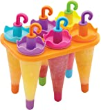 Kitchen Craft Plastic Umbrella-Shaped Ice Lolly Moulds - Multi-Colour (Set of 6)