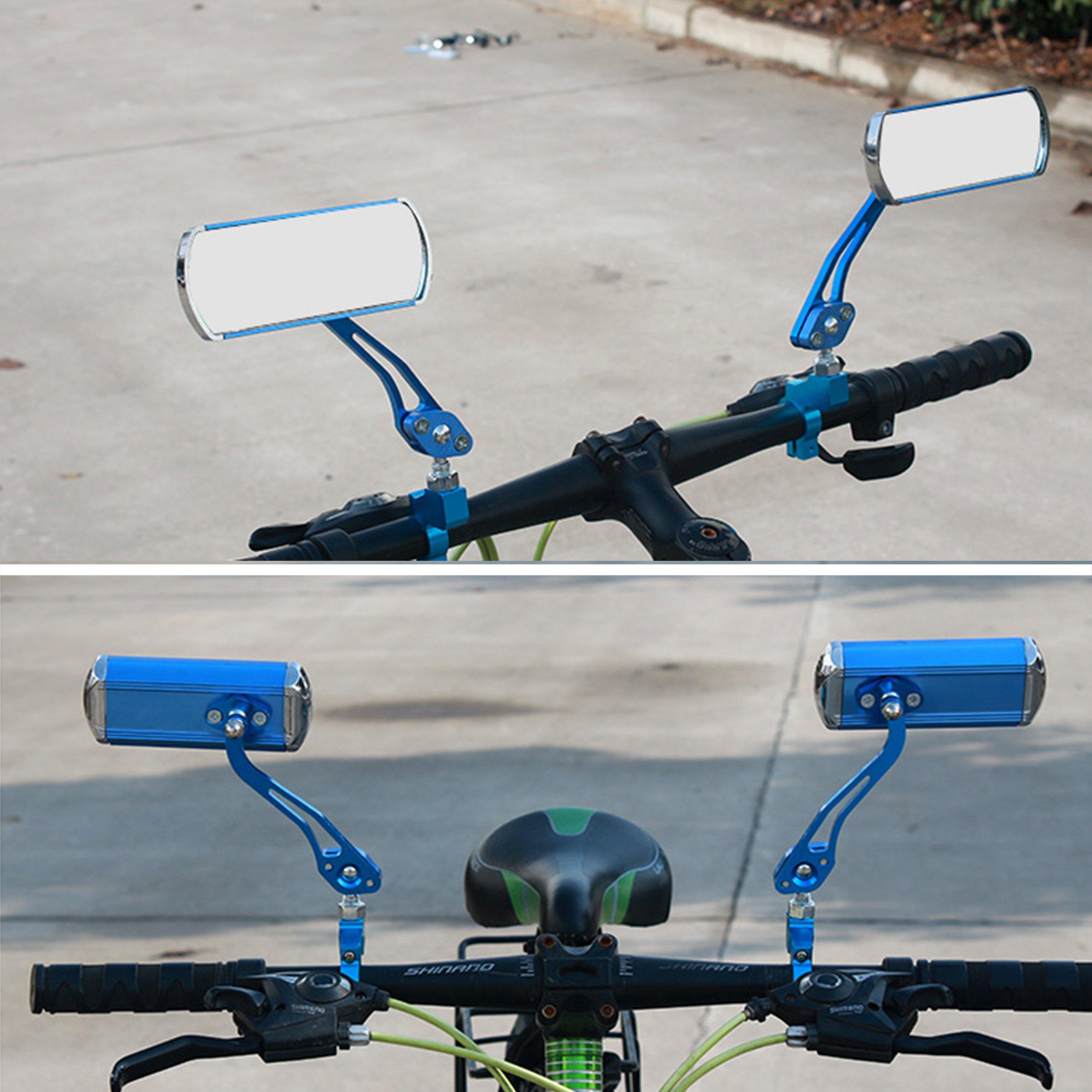 Fuzbaxy 1 Pair Bike Handlebar Grip Lock On End Grips Rubber Bar Anti-Slip for Mountain MTB BMX Bicycle