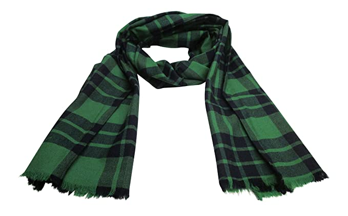 1ea9e6cab1db Scotch Tweed - Echarpe - Femme multicolore vert bleu XX-Large ...
