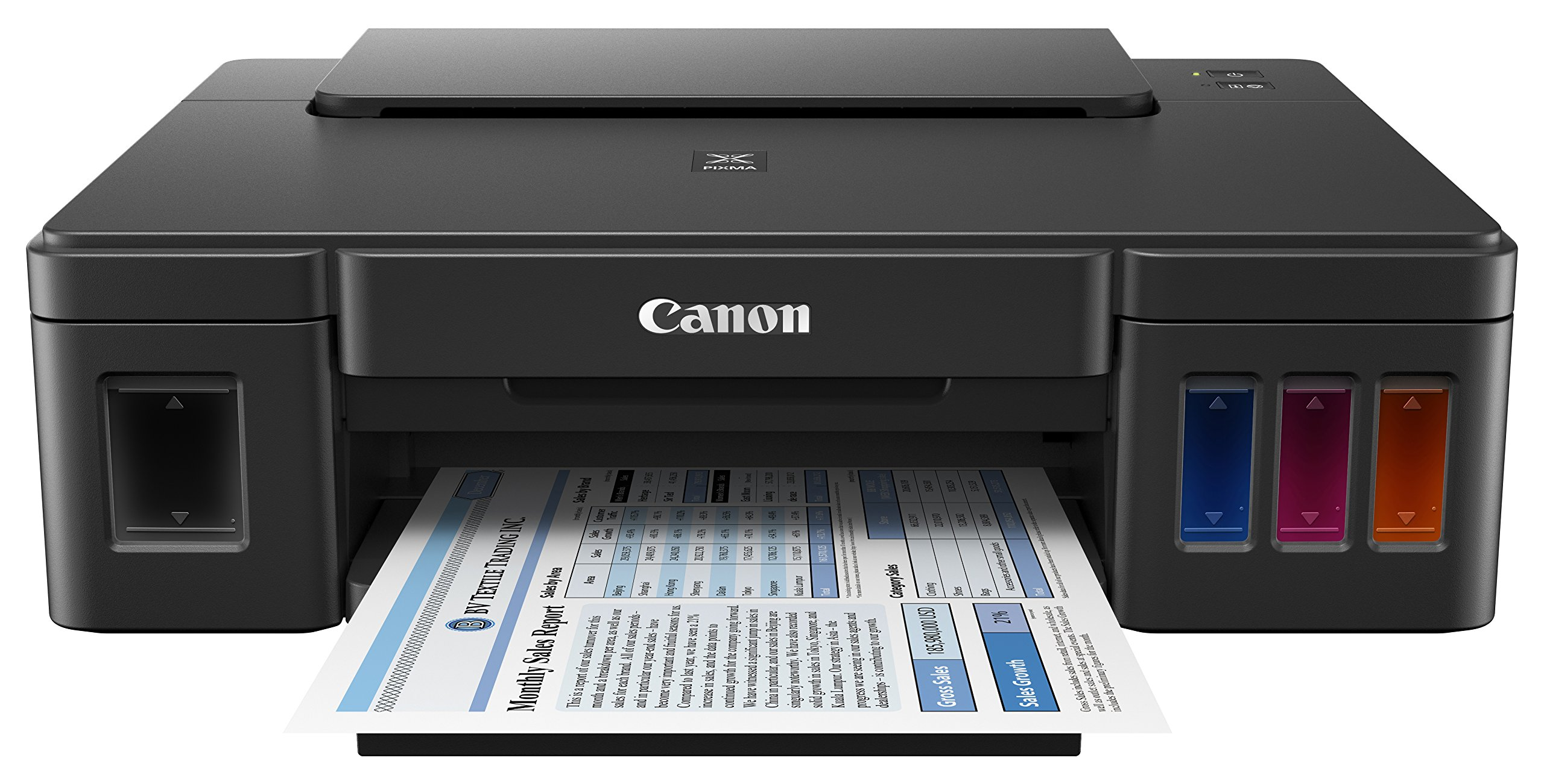 Canon PIXMA G1200 Megatank Single Function Printer, Print Only, Black