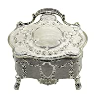AVESON Luxury Vintage Metal Alloy Jewelry Box Ring Trinket Case Christmas Birthday Gift, Small