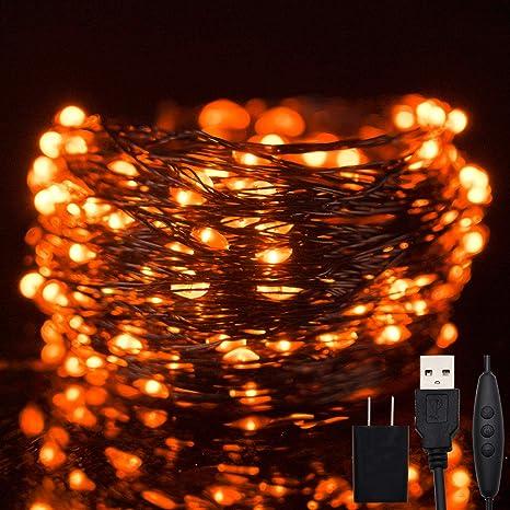 200 LED 66FT Fairy String Lights Halloween Christmas 8 Lighting Modes Plug in