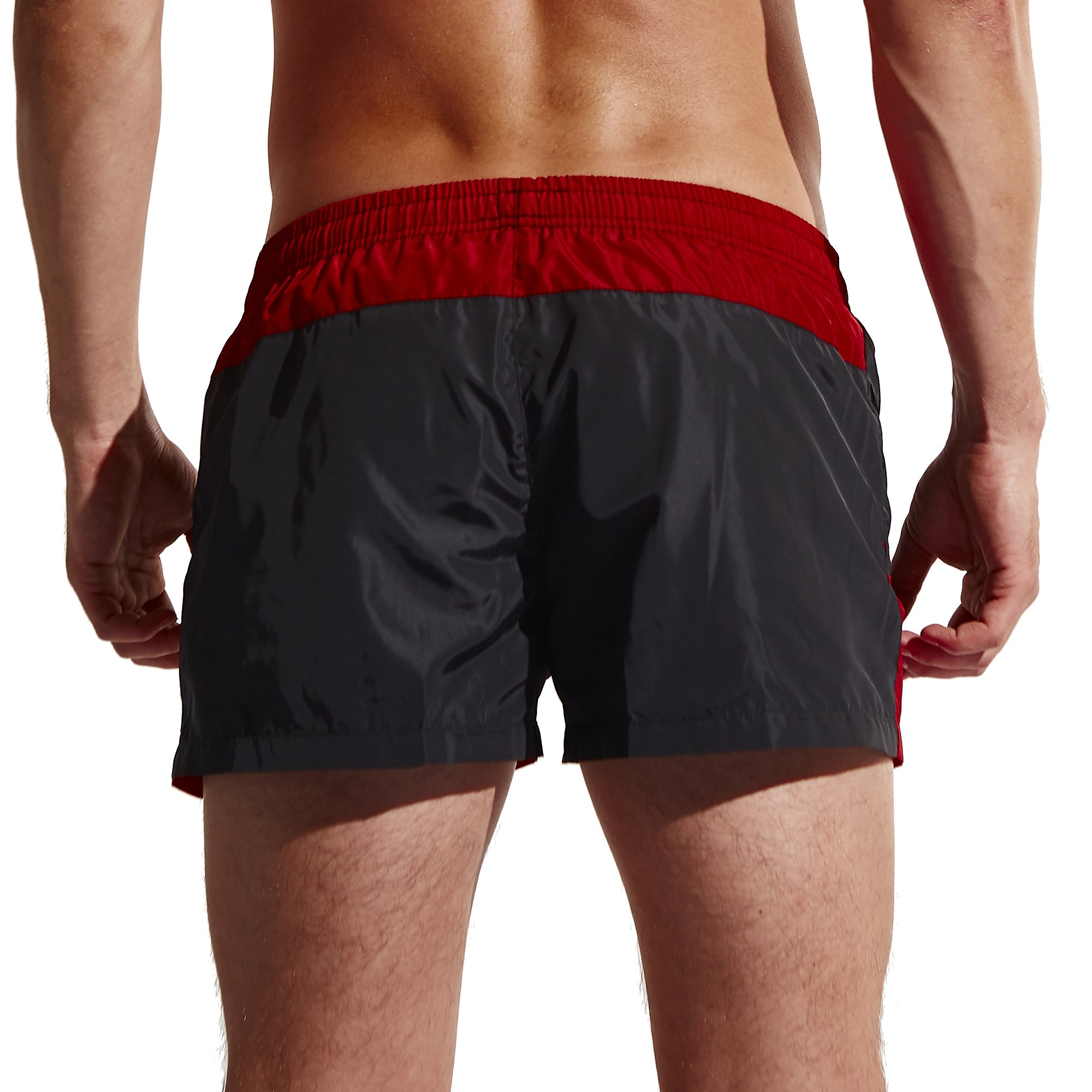 Men\'s Shorts Dry Fit Swim Trunks Running Board/Beach Shorts with Zip Pockets