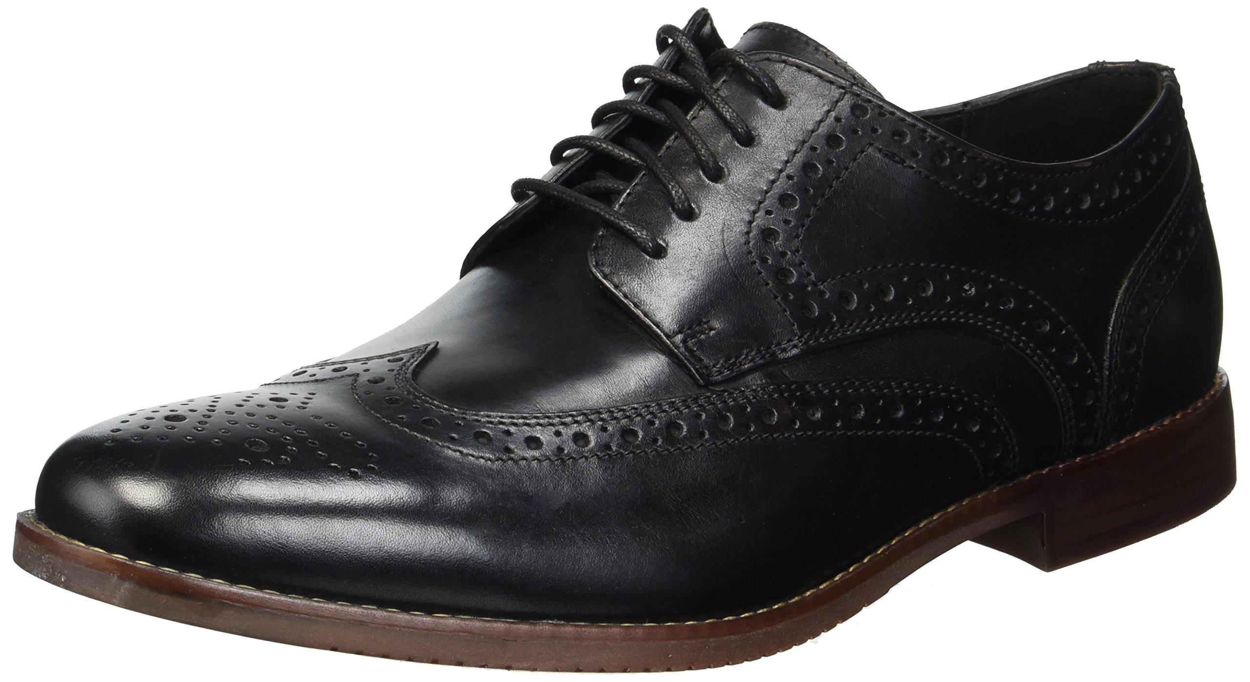 Rockport Men's Derby Room Wingtip Shoe, Black, 9 M US by Rockport