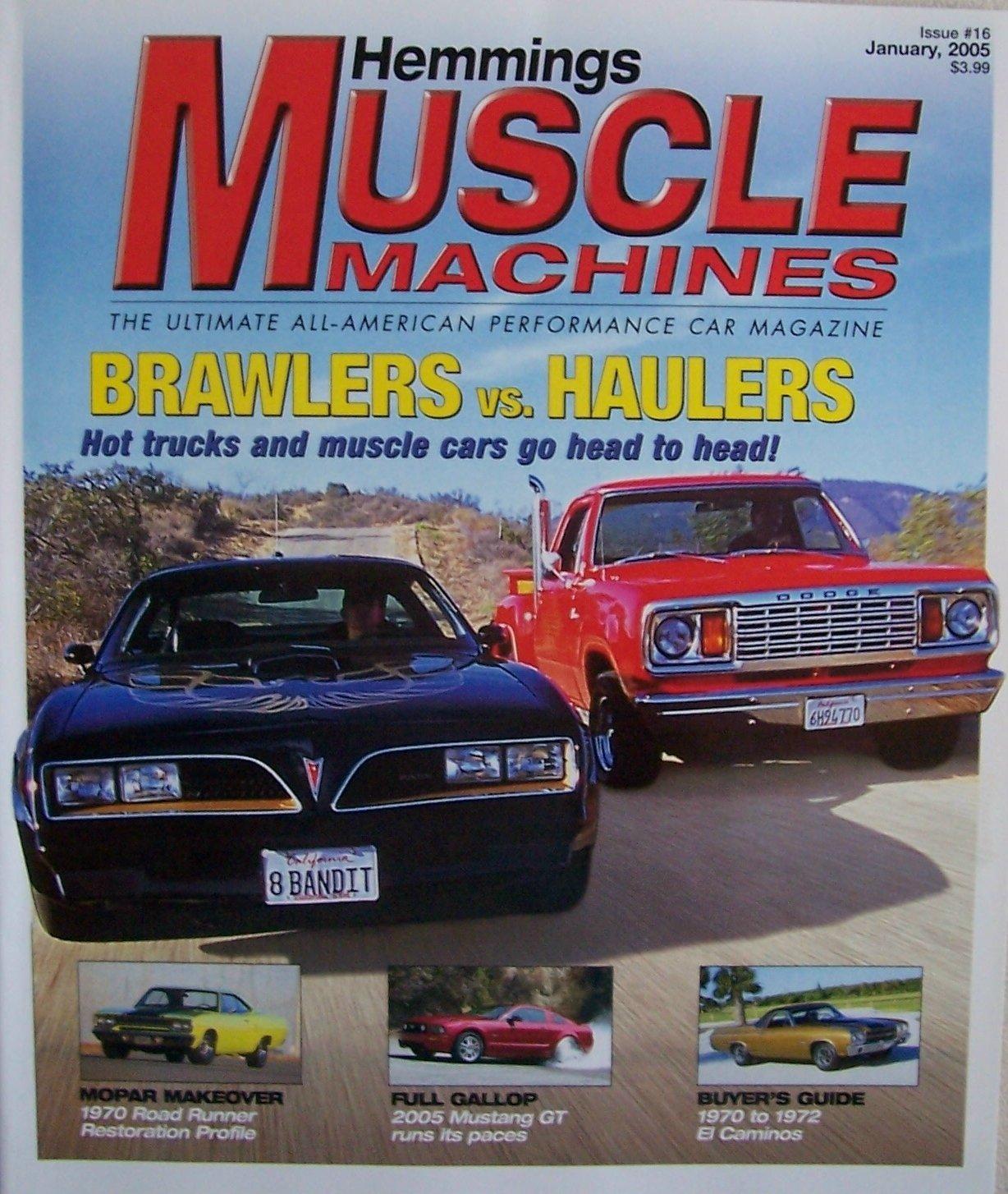 Hemmings Muscle Machines 16 Vol 2 Issue 4 Jan 2005 Ultimate