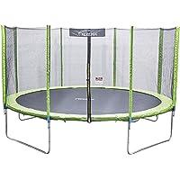 Terena Trampolin neongrün 183 244 305 366 427cm mit Netz Sicherheitsnetz Gartentrampolin für Kinder