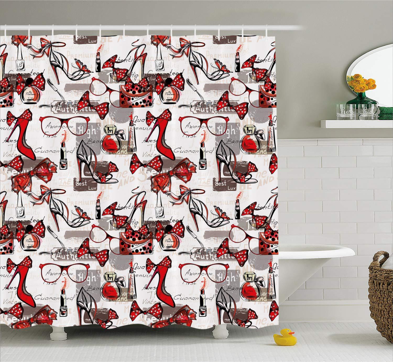 Amazon com: Ambesonne Fashion House Decor Shower Curtain by, High