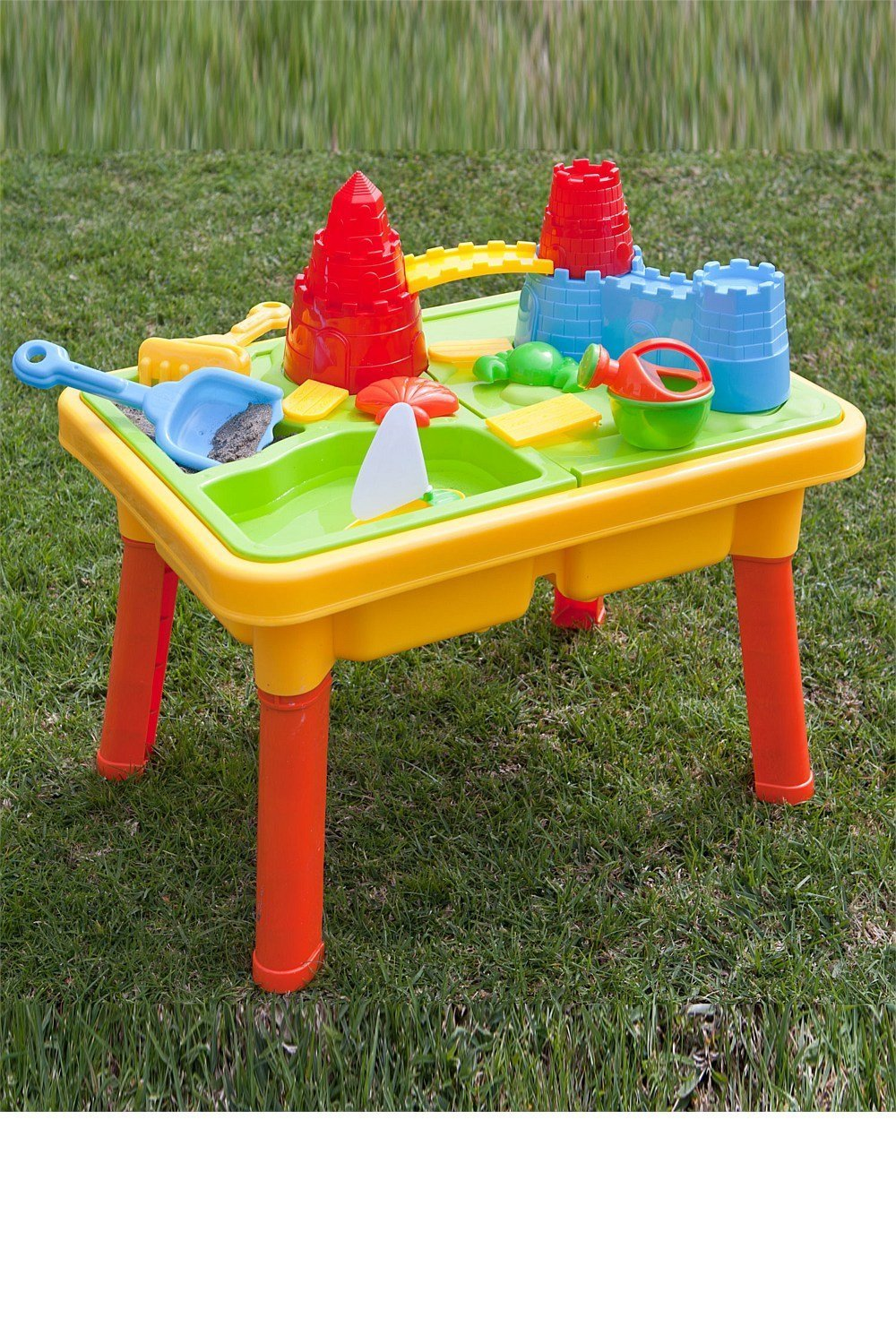 CHIMAERA Multi-Play 2-in-1 Sandbox / Sand and Water Table with Beach Playset by CHIMAERA (Image #4)