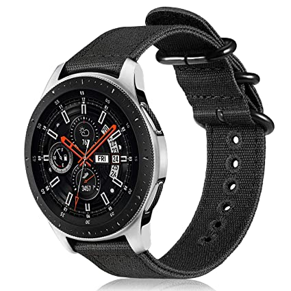 Fintie for Galaxy Watch 46mm and Gear S3 Bands, Soft Canvas Nylon 22mm Watch Band Adjustable Replacement Sport Strap for Samsung Galaxy Watch 46mm and ...