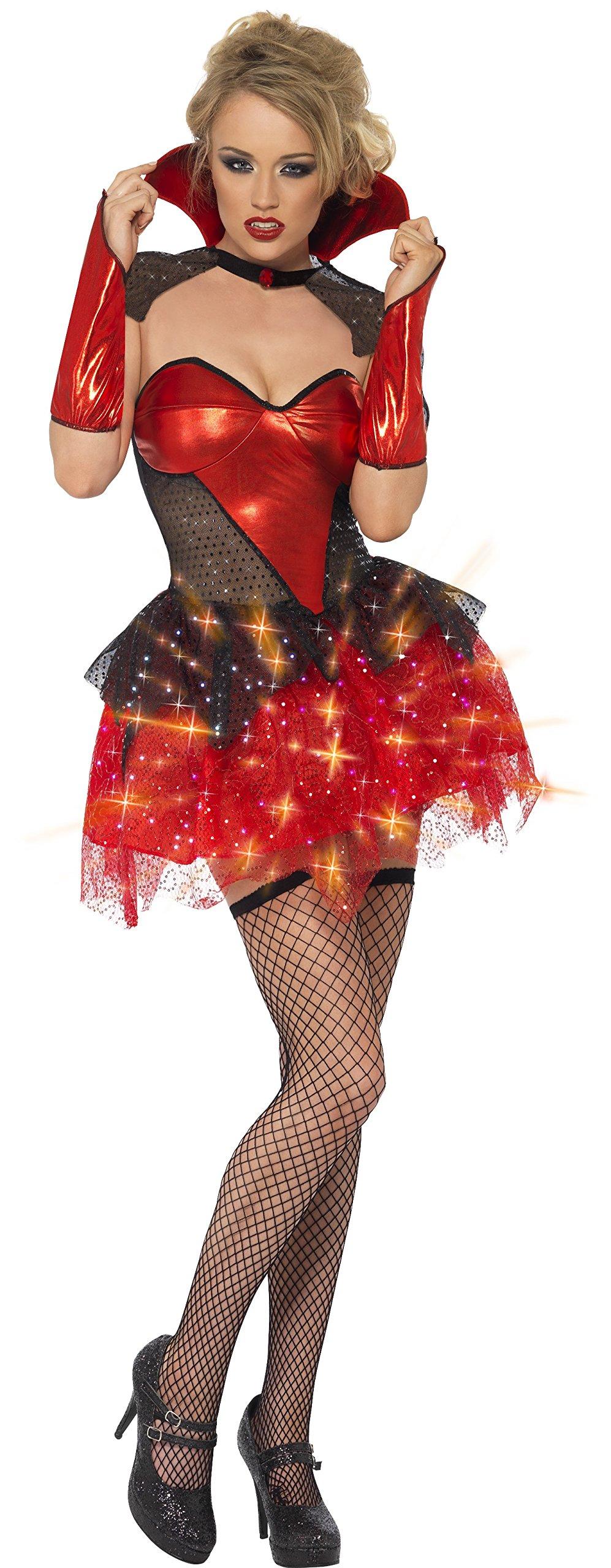 Halloween Women Costume Glitters Vamp Gloss Costume Vampire Dress ...