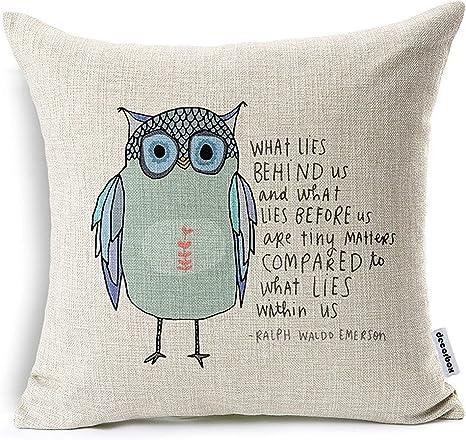 45cm Square Cotton Linen Throw Pillow Case British Home Art Pillow Cover Decors