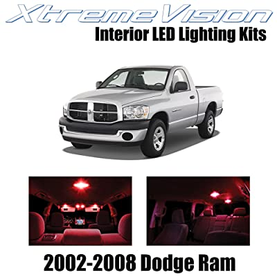 XtremeVision Interior LED for Dodge Ram 2002-2008 (10 Pieces) Red Interior LED Kit + Installation Tool: Automotive