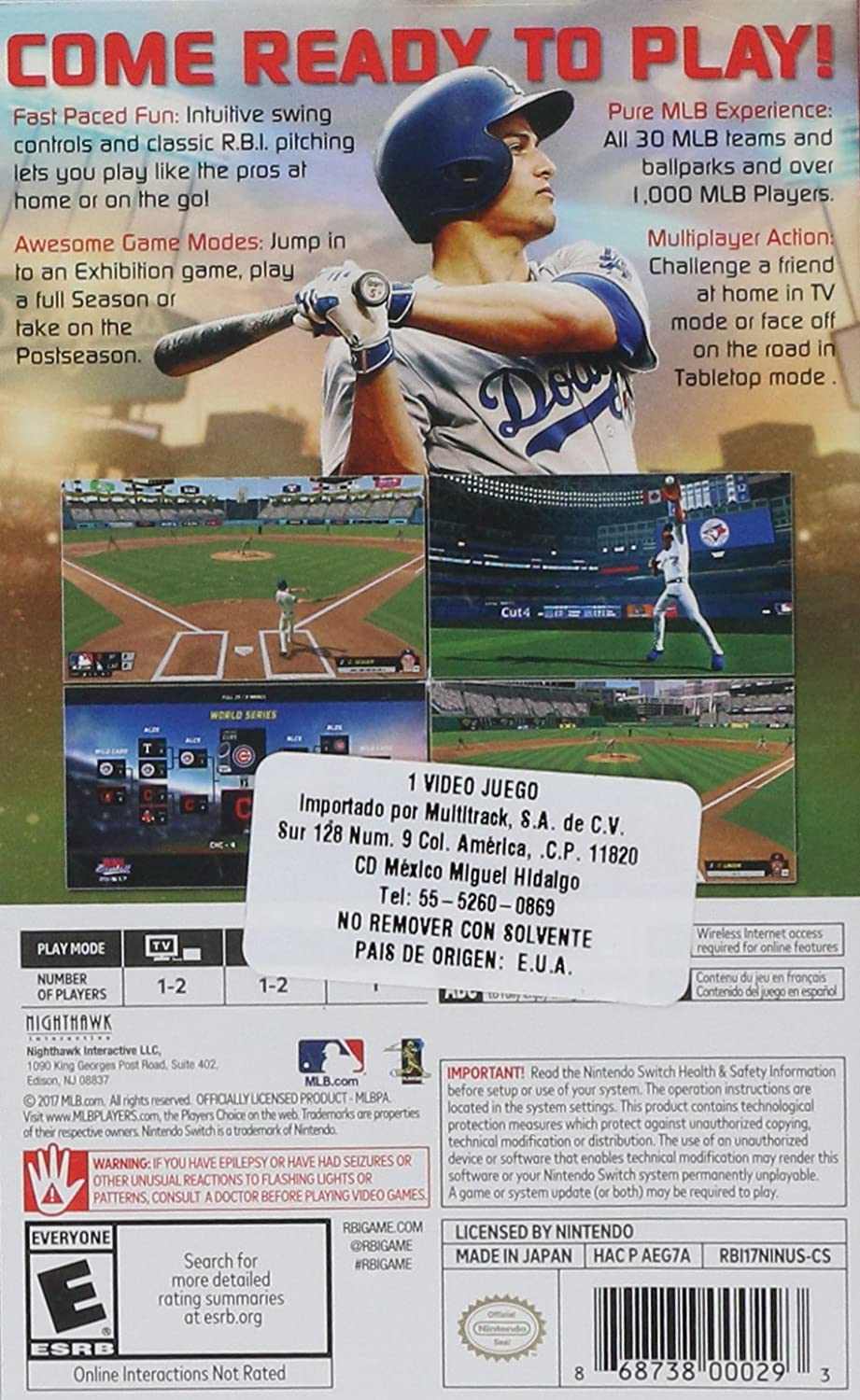Amazon.com: RBI Baseball 17 Switch (NS): Video Games