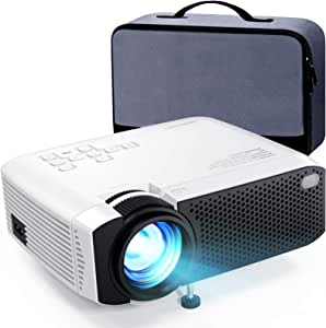 """Mini Projector, APEMAN 4500L Brightness 180"""" Display Projector [Carry Case Included], Support 1080P, 45,000 Hours LED Life, Compatible with TV Stick, TV Box, PS4, HDMI, VGA, TF, AV, USB for Home Movie"""