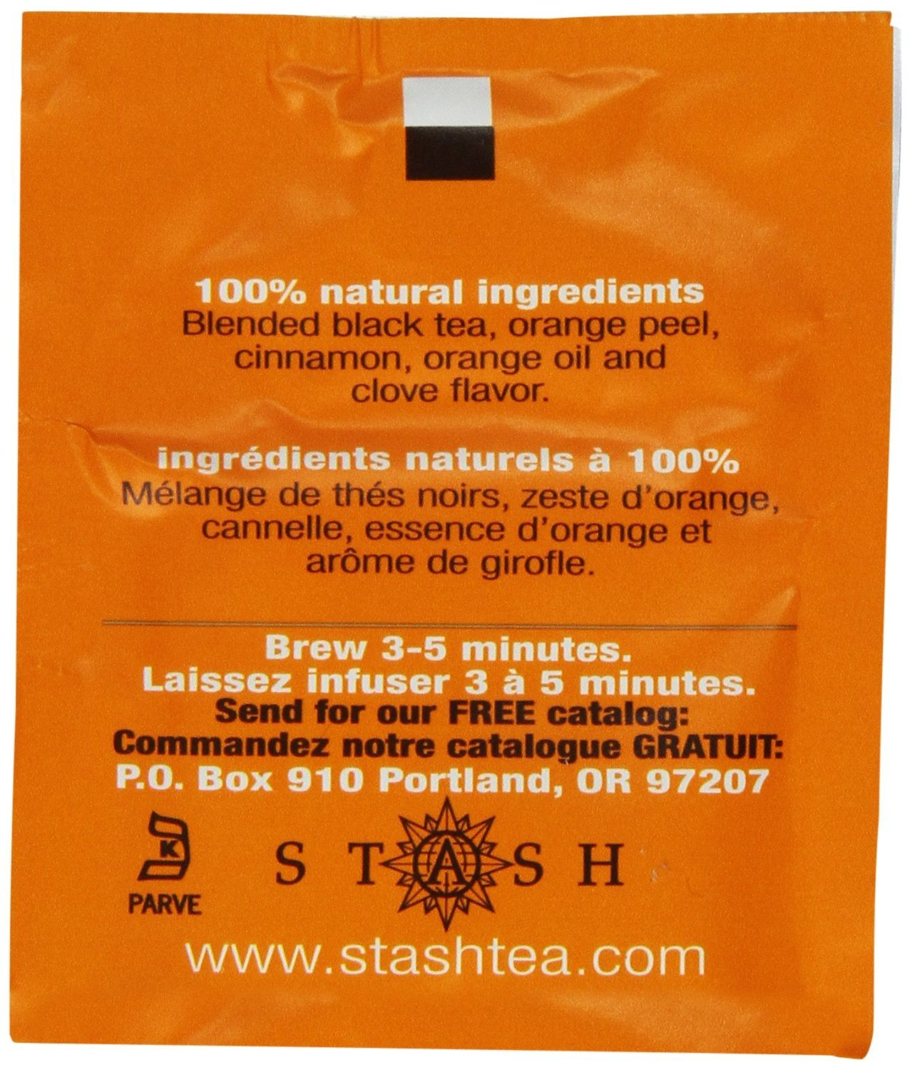 Stash Tea Orange Spice Black Tea 10 Count Tea Bags in Foil (Pack of 12) (packaging may vary) Individual Black Tea Bags for Use in Teapots Mugs or Cups, Brew Hot Tea or Iced Tea by Stash Tea (Image #5)