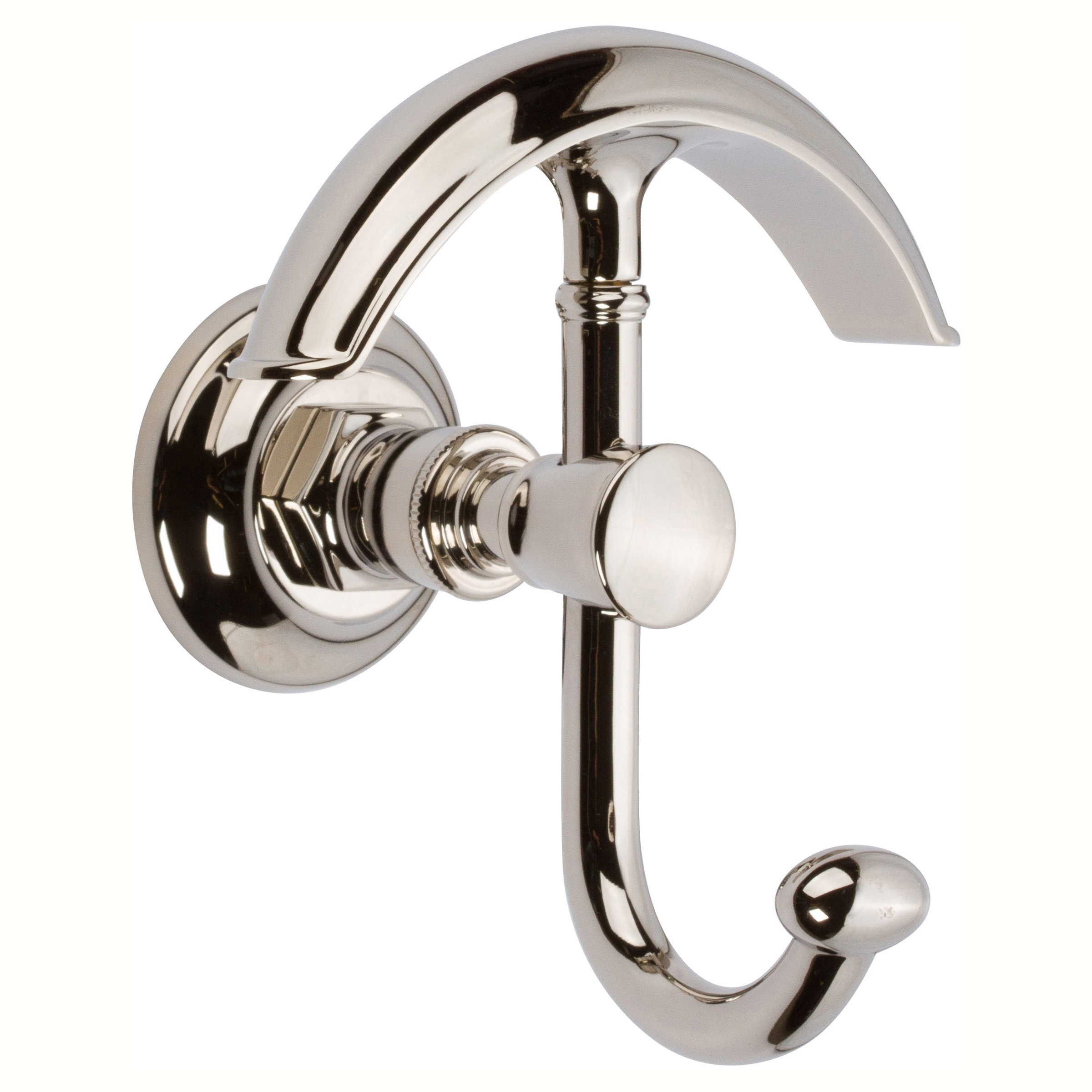 Ginger 4811/PN Eavon Double Robe Hook, Polished Nickel