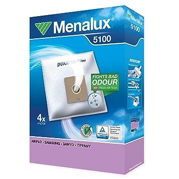 Menalux 5100 Duraflow - Bolsas para aspiradoras Samsung y Nilfisk (4 unidades)