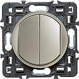 Legrand 099771 Céliane Interrupteur double, 250 V, Titane