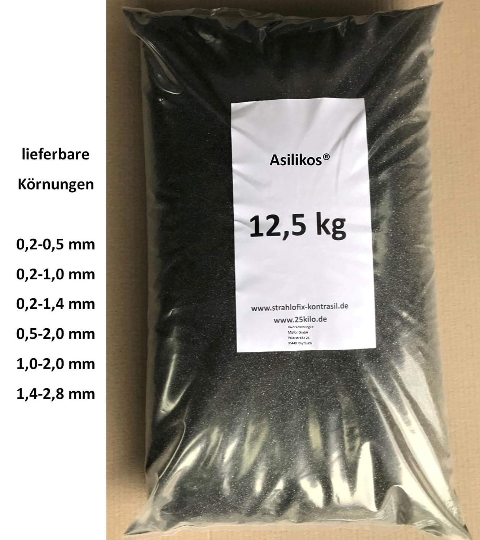 1,0-2,0 mm Asilikos 12,5 kg Strahlmittel Strahlgut Sandstrahlen alle K/örnungen