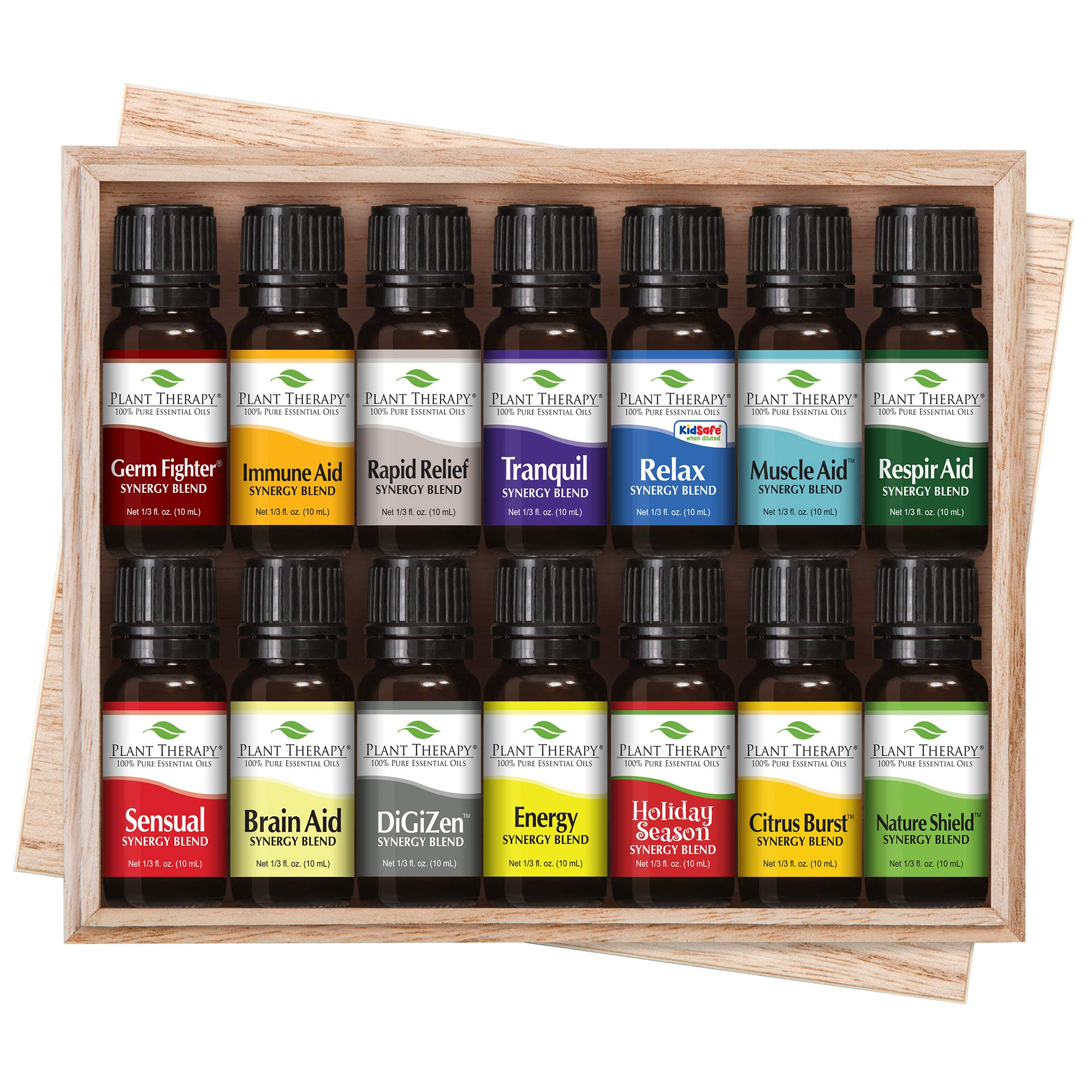 Plant Therapy Essential Oil | Top 14 Synergies Set | 100% Pure, Undiluted, Natural Aromatherapy, Therapeutic Grade | 10 milliliter (⅓ ounce)