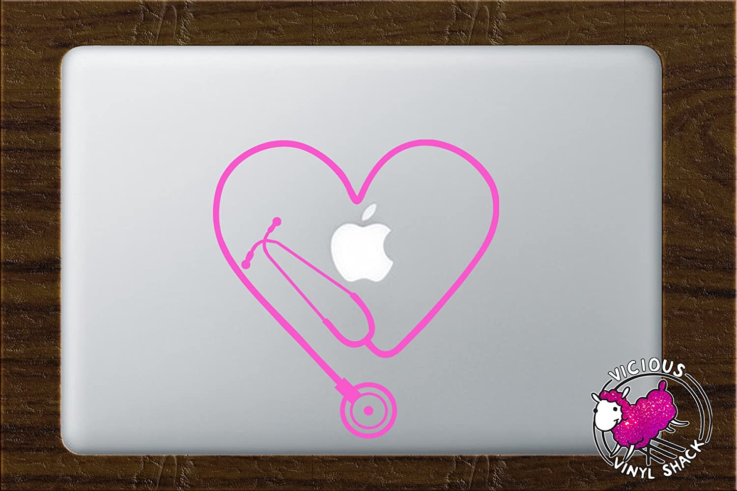 Amazon.com: Stethoscope Heart PINK Vinyl Decal for 13 Inch ...