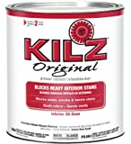 KILZ Original Multi-Surface Stain Blocking Interior Oil-Based Primer/Sealer (Low VOC Formula), 1 Quart, White