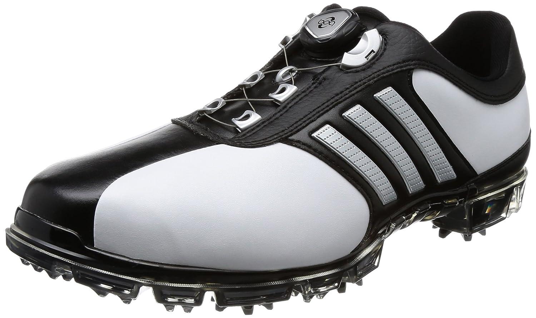 [アディダスゴルフ] ゴルフシューズ ピュアメタル ボア プラス pure metal Boa PLUS B0734F7XP5 27.5 cm 3E ホワイト/シルバーメタリック/コアブラック
