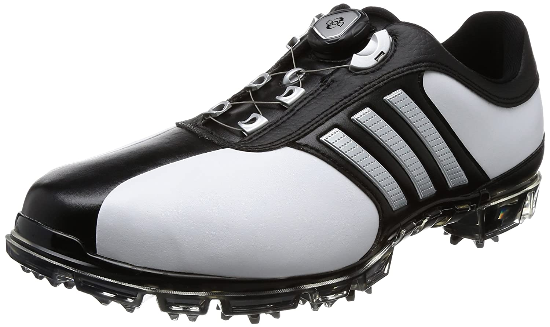 [アディダス] ゴルフシューズ ピュアメタル ボア プラス メンズ 27.5 cm 3E ホワイト/シルバーメタリック/コアブラック B0734F7XP5