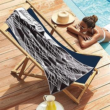 Toallas de baño natación algodón adulto verano playa toalla ampliación completo algodón suave absorbente engrosamiento-A 175x90cm(69x35inch): Amazon.es: ...