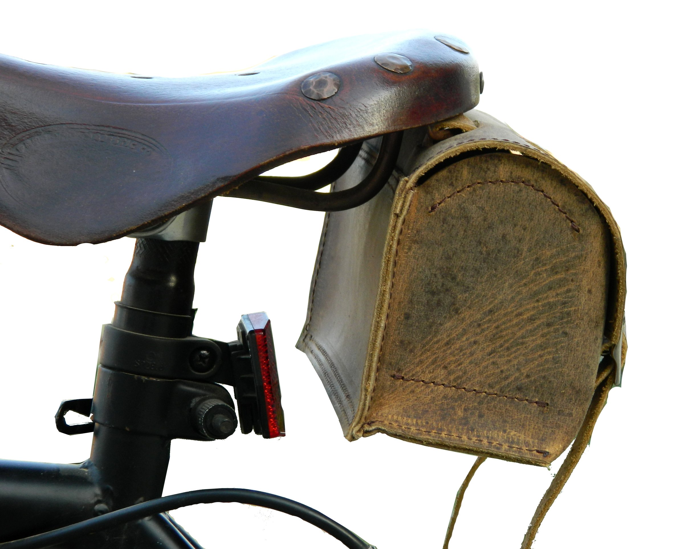 Herte Genuine Leather Bicycle Saddle Box Bag Utility Vintage Bag br by Herte (Image #3)