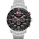 Citizen Eco-Drive Weekender Chronograph Mens Watch, Stainless Steel, Silver-Tone (Model: CA4431-50E)