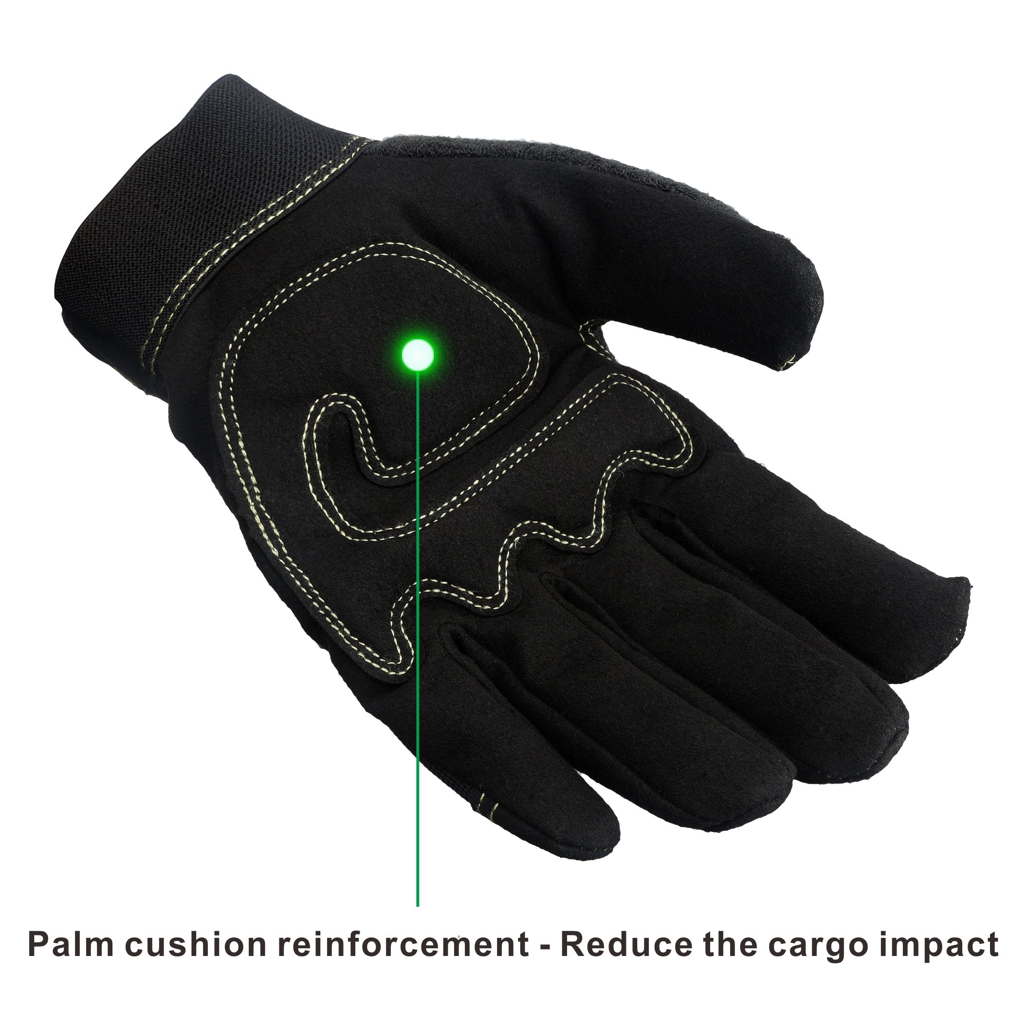 KIM YUAN Mechanic General Utility Breathable Work Gloves Touch Screen, Skid/Abrasion Resistant, Pefect for Warehouse, Construction, Outdoor, Men & Women, XL by KIM YUAN (Image #4)