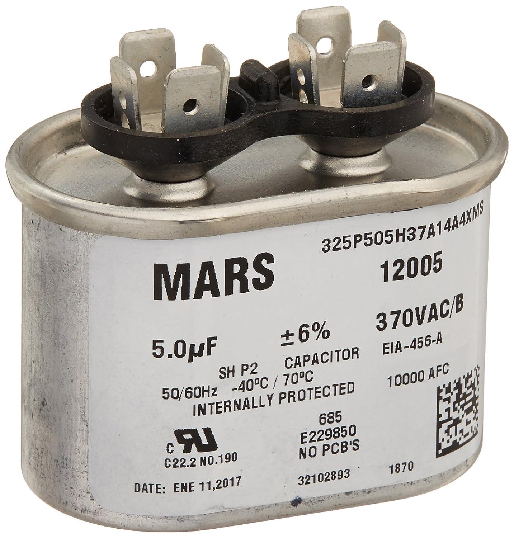 Oval Run Capacitor Wiring Diagram Library 40 Mfd Ac Motor Amazoncom Mars Motors Armatures 12005 5 370 Single