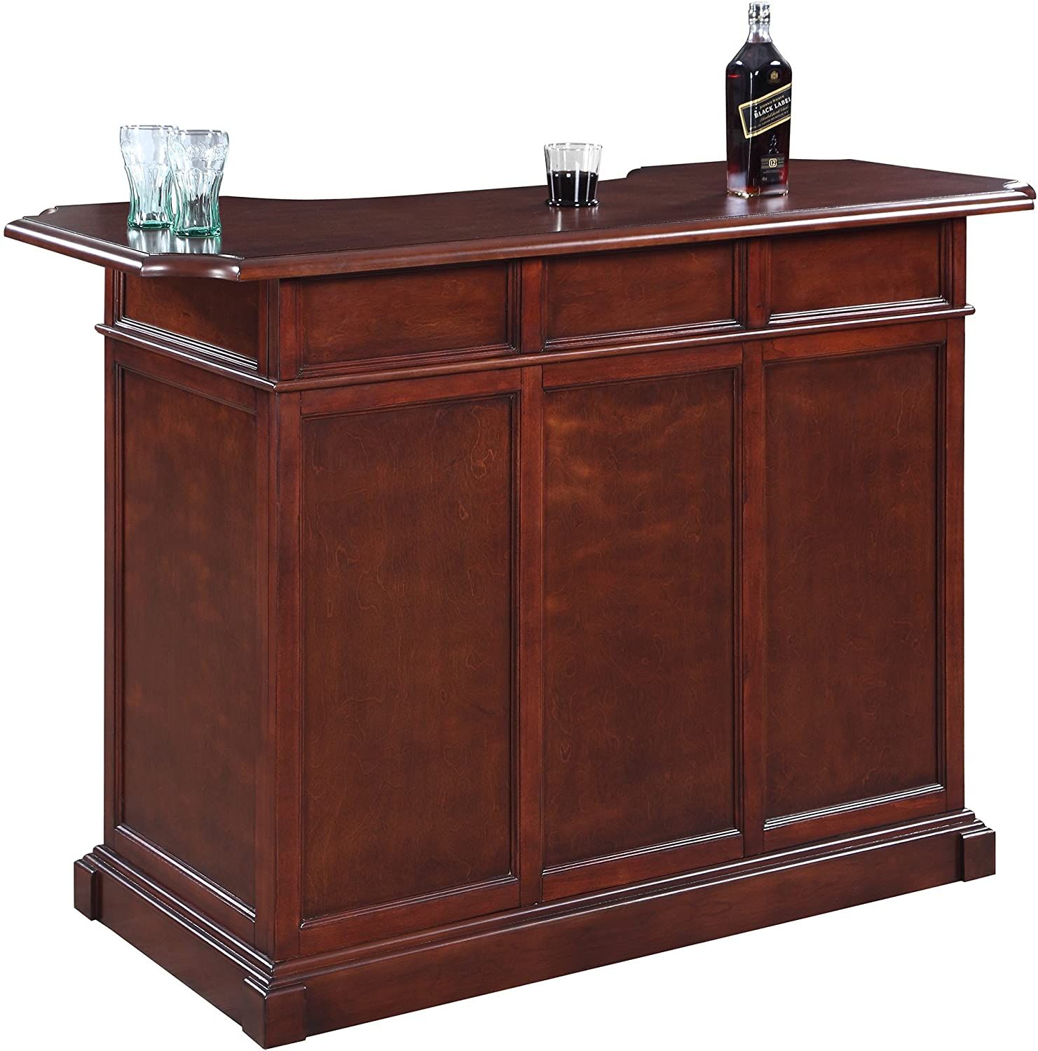 Amazon Com Hathaway Ridgeline 5 Home Bar Set With Storage Walnut Sports Outdoors