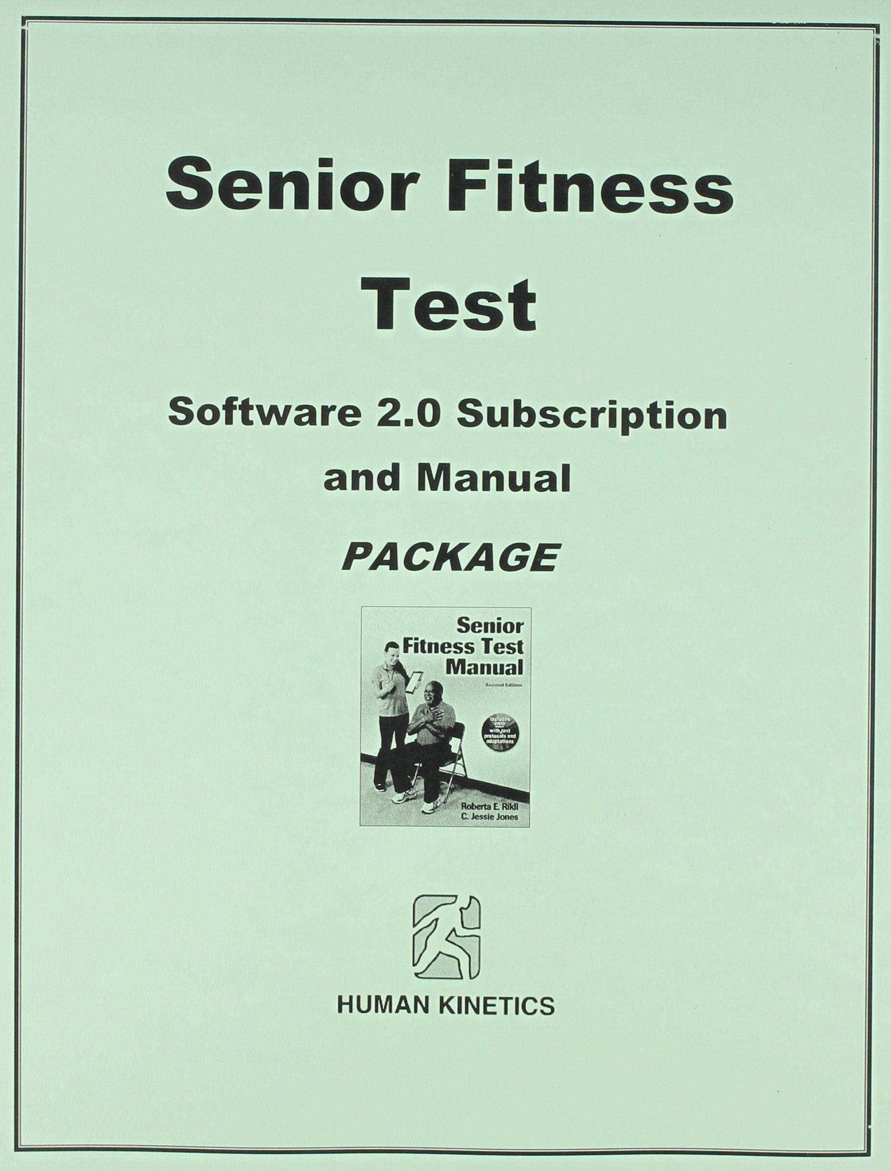 Buy Senior Fitness Test Software 2 0 and Manual Package Subscription