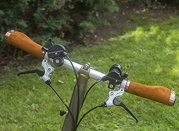 Mango ergonómico para Brompton – Bicicleta plegable (ante sintético, aluminio, con bocallave)