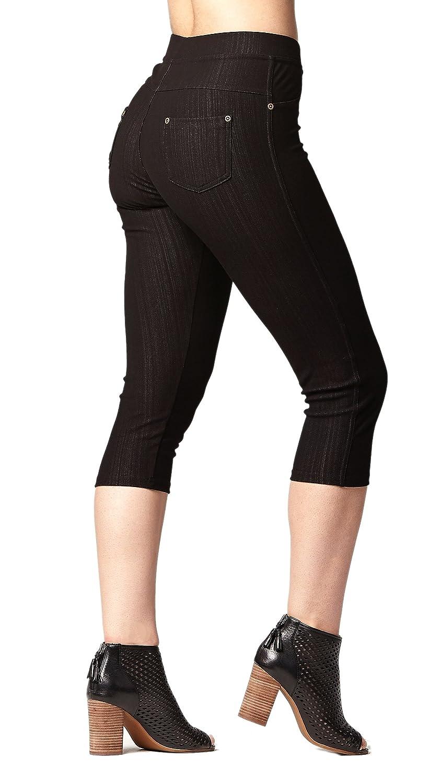 f5f241e3e28 Premium Jeggings - Denim Leggings - Full and Capri Length - Regular and Plus  Sizes at Amazon Women s Clothing store