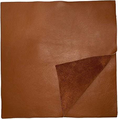 Natural Grain Cowhide Leather Chocolate Brown 12 x 12 Pre-Cut Pieces