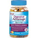 Digestive Advantage Daily Probiotic - Natural Fruit Flavor Gummies (80 Count In A Bottle), Helps Relieve Minor Abdominal Disc