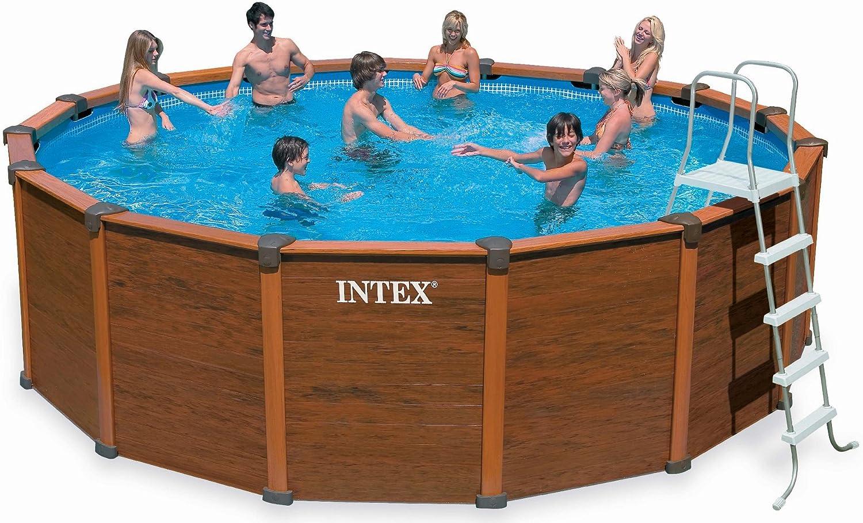 Intex - Juego de alberca (Marco de Madera, TÜV/GS), Color marrón ...