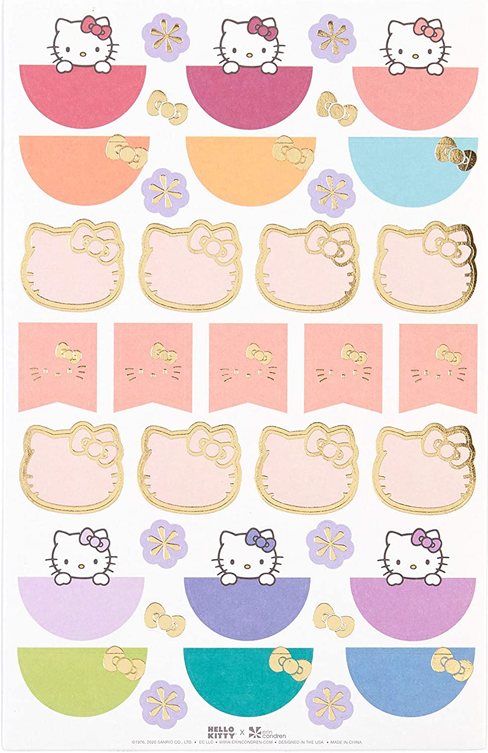 Fun and Cute Stickers for Customizing Planners 95 Stickers Total Notebooks Calendars and More 3 Pack Hello Kitty x Erin Condren Designer Sticker Pack