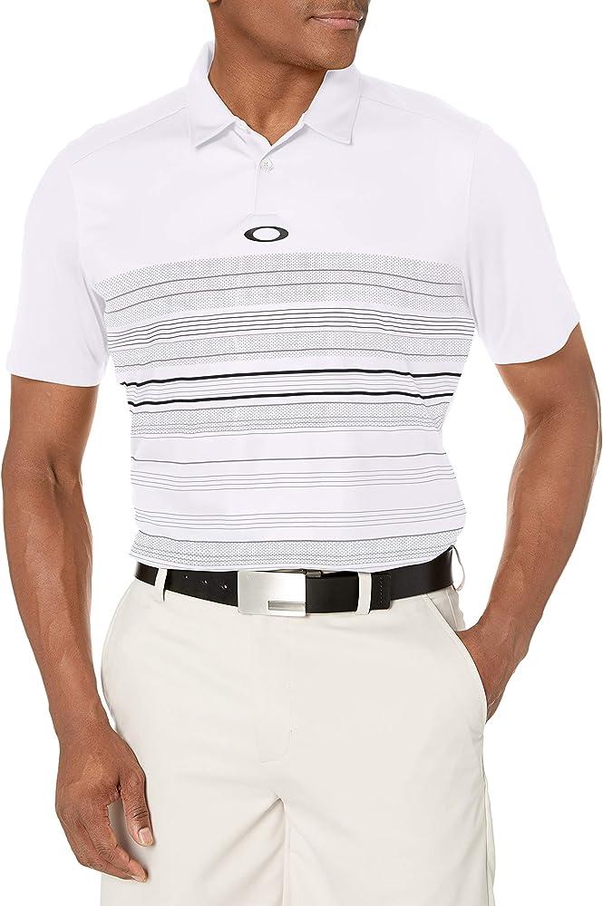 Oakley High Crest Polo para Hombre, Hombre, 433694, Blanco, Small ...