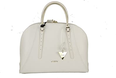 Guess Sac Bowling Ligne Lady Luxe Cuir Blanc: