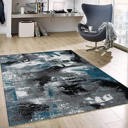 Vimoda Tapis Création Moderne Artistique Abstrait Toile ...