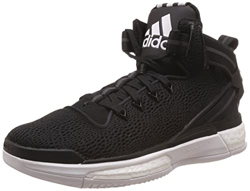 designer fashion 61d01 9d008 adidas D Rose 6 Boost, Scarpe da Basket Uomo, Nero Bianco Negbas