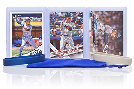 Aaron Judge Cards 3 With 1 Rookie Card Assorted New York Yankees Baseball Card Bundle Collectible Trading Cards