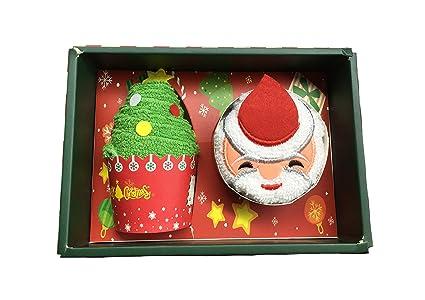 Toalla de Algodón Multicolor para Decoración de Tartas de Navidad (Caja