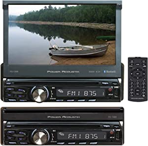Power Acoustik PD-720B Single DIN with 7-inch Motorized LCD Touchscreen, DVD, CD/MP3 Car Stereo with Bluetooth
