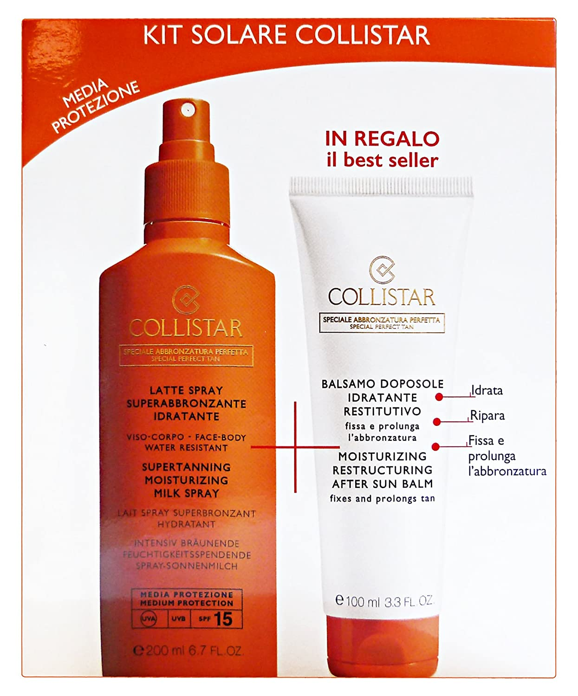 Collistar Set Latte Spray Abbronzante Spf 15 e Balsamo Doposole Idratante Restitutivo - 100 gr SOLARCOLLIKIT08